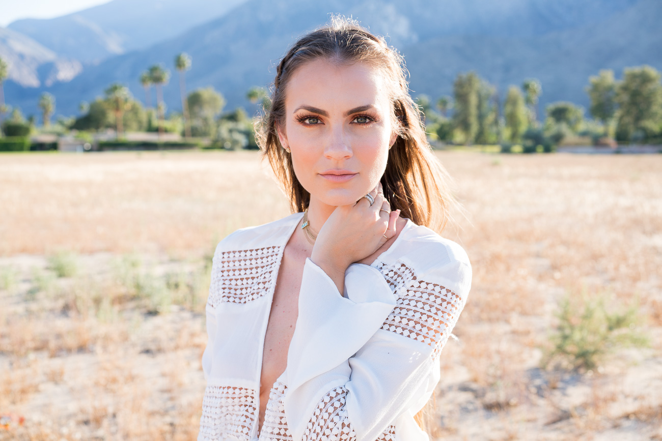 Revolve Self Tie Knotted Romper Palm Springs, CA Angela Lanter Hello Gorgeous