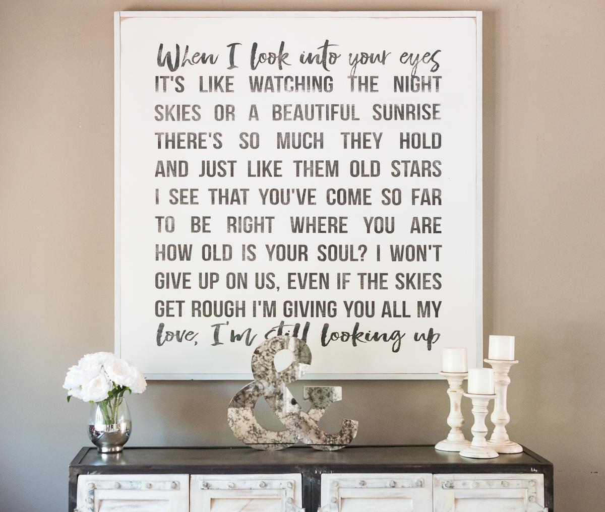"""""""I Won't Give Up"""" Jason Mraz wedding song artwork etsy angela lanter home decor living room hello gorgeous"""