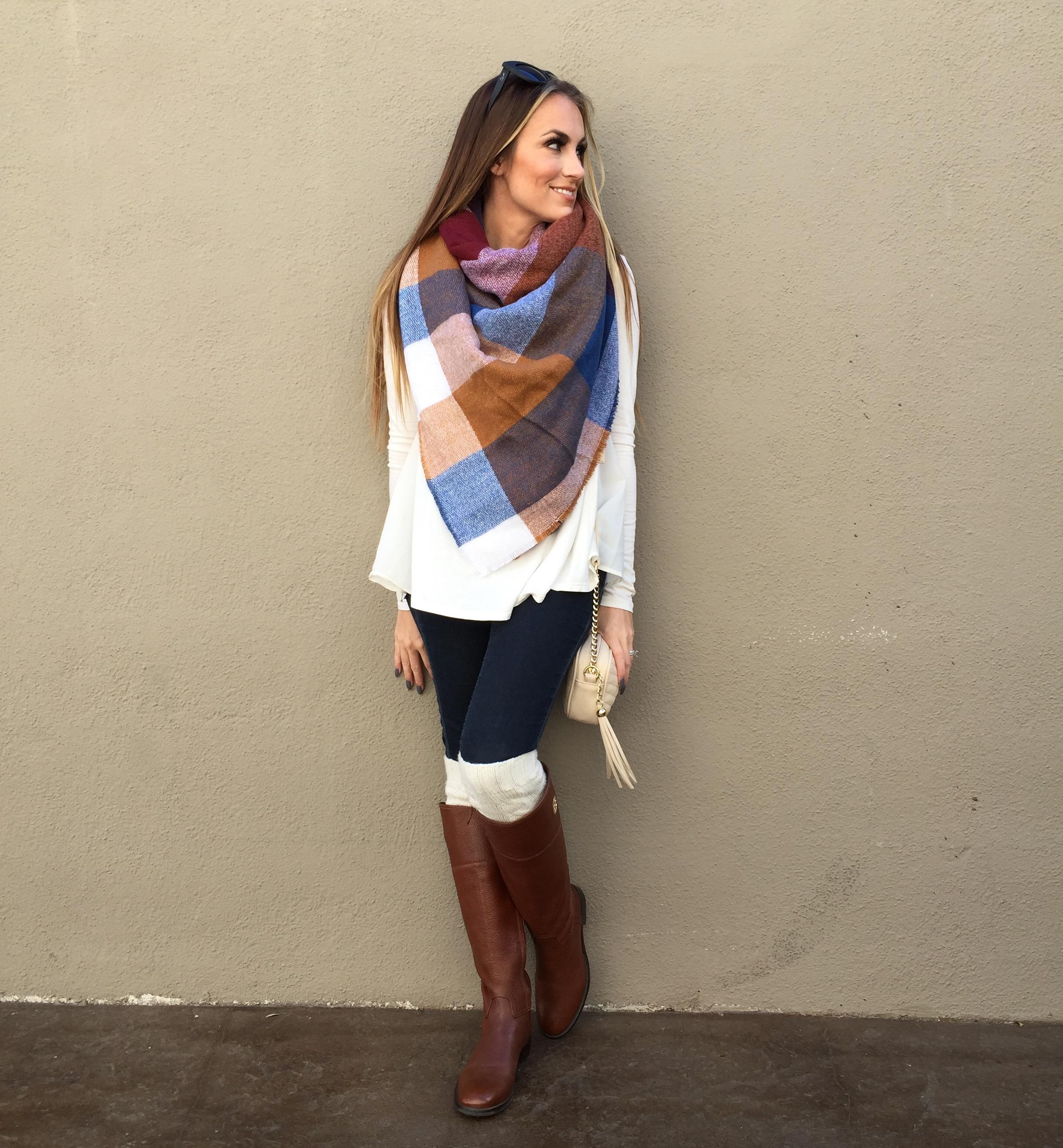 asos blanket scarf fall outfit angela lanter hello gorgeous