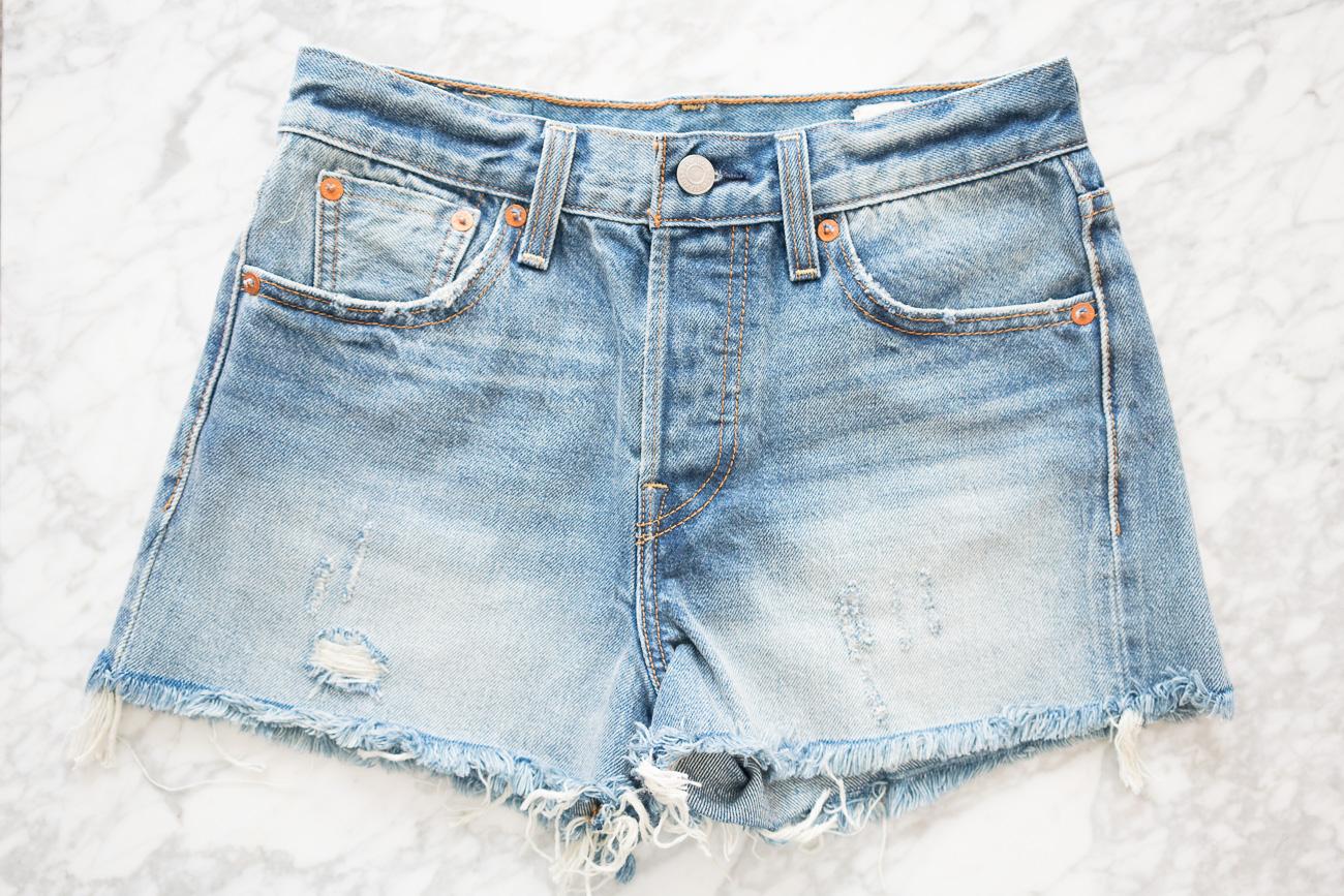 Levi's Wedgie Denim Shorts ShopBop Sale April 2017 Angela Lanter Hello Gorgeous
