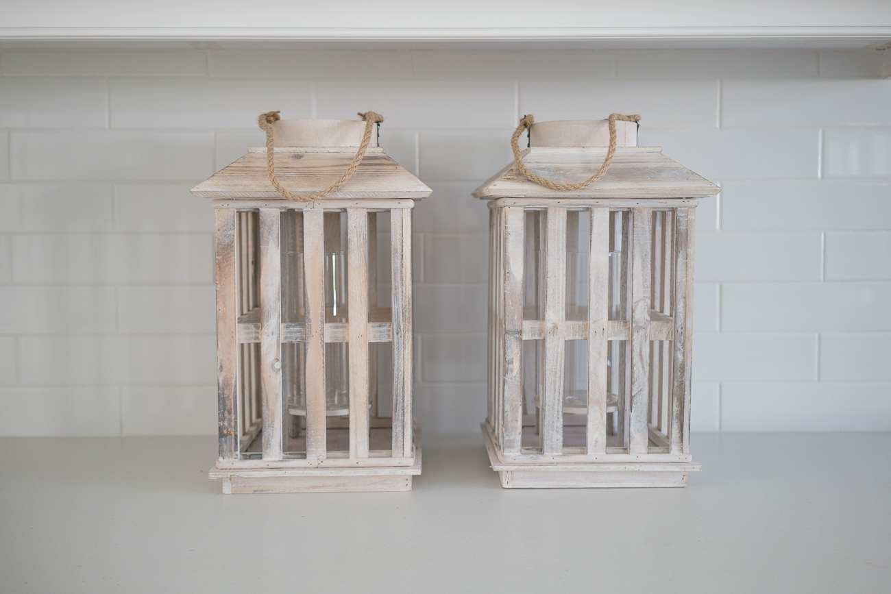 homegoods wayfair distressed wood lanterns white washed angela lanter hello gorgeous