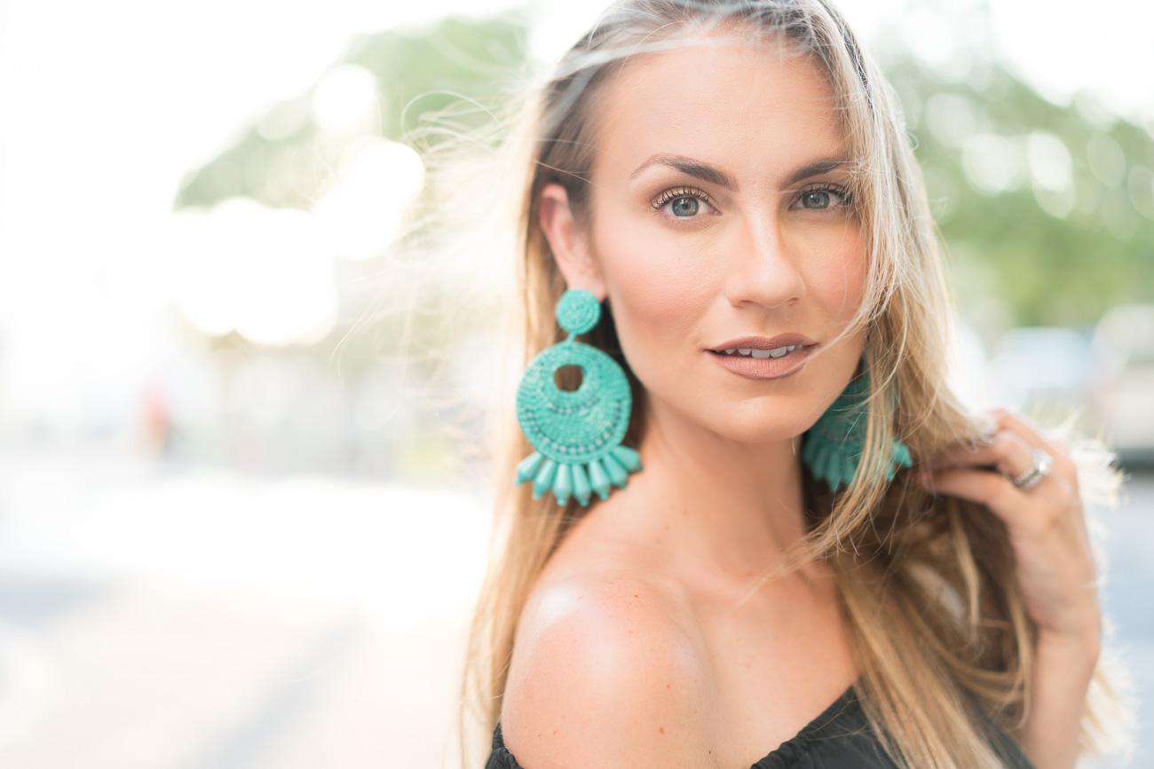 Kenneth Jay Lane Turquoise Seed Bead Hoop Earrings ShopBop Sale April 2017 Angela Lanter Hello Gorgeous